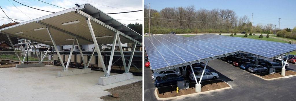 Металоконструкції сонячних навісів